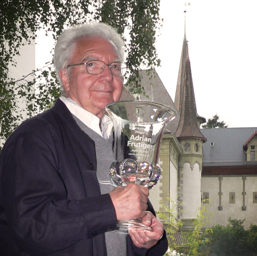 Adrian Frutiger with his SOTA Typography Award