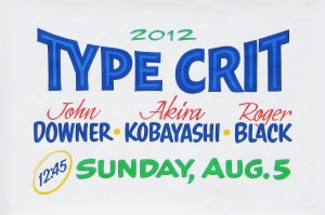 2012 Type Crit Poster