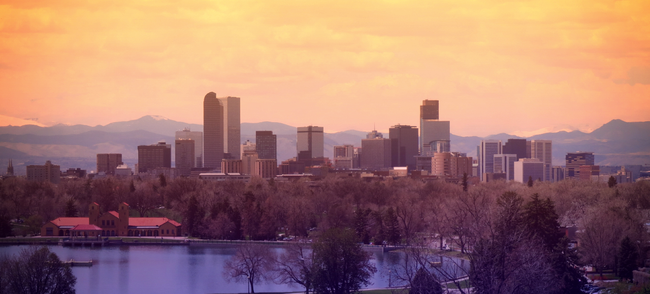 The skyline of Denver, Colorado