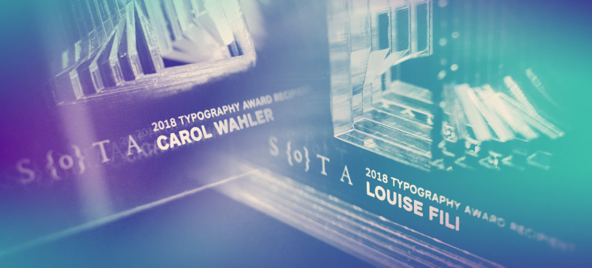 SOTA Typography Award for Louise Fili & Carol Wahler