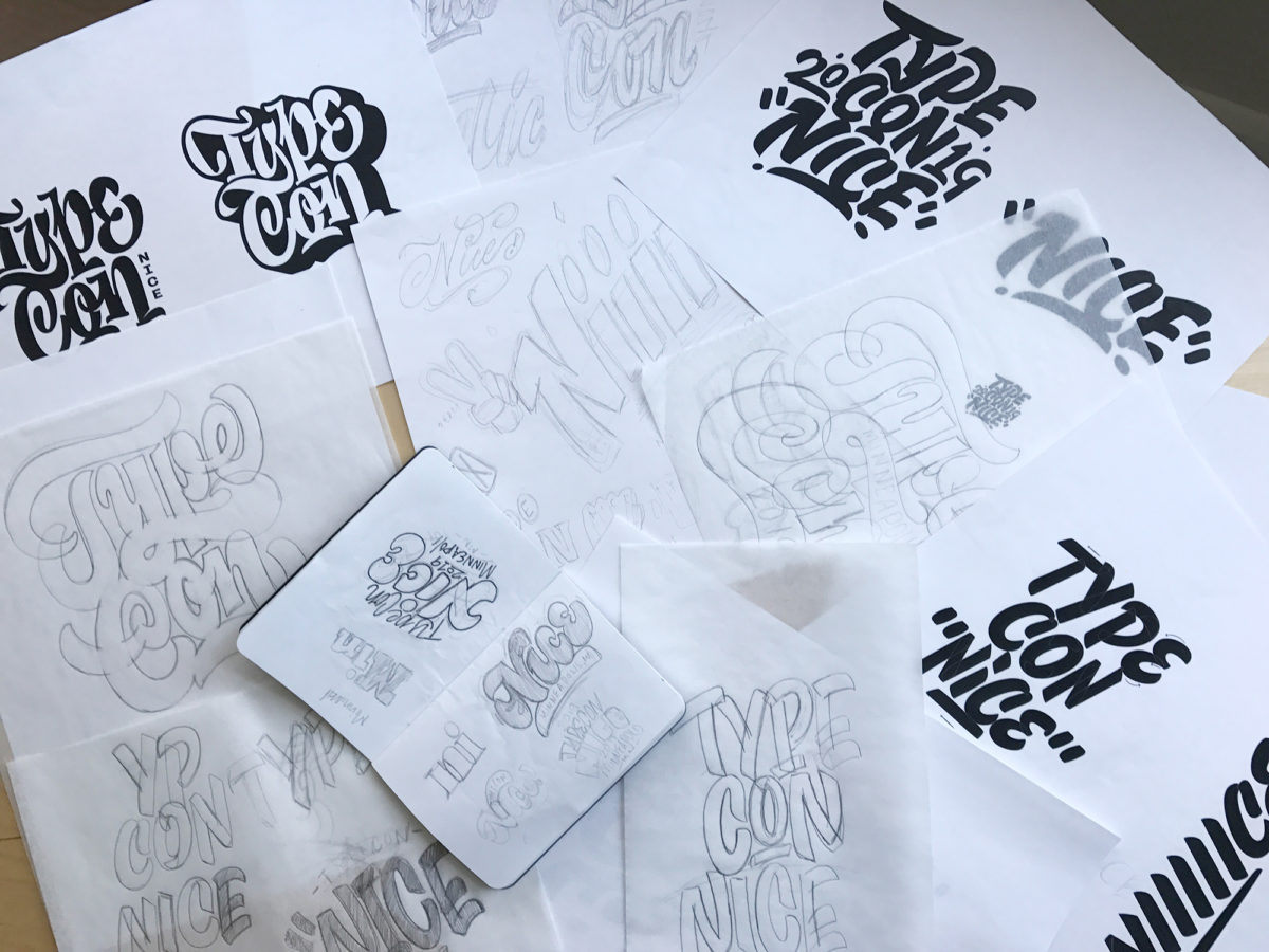 "TypeCon ""Nice"" Sketches by Mark Caneso"